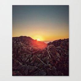 Peel Sunset Canvas Print