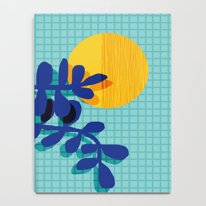 No Way - wacka potted house plant indoor cute hipster neon 1980s style retro throwback minimal pop Notebook