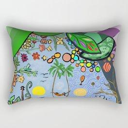 Man on a hamac Rectangular Pillow
