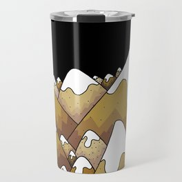 The gold snow peaks Travel Mug