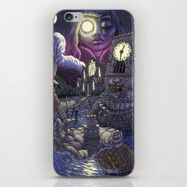 Ruined Clocktower Under Moonlight iPhone Skin