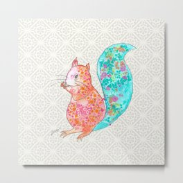 Nom Nom Squirrel Metal Print