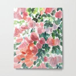 Floral watercolor painting Metal Print