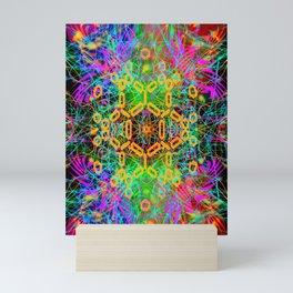 Black Scratch Mandala 7 Mini Art Print