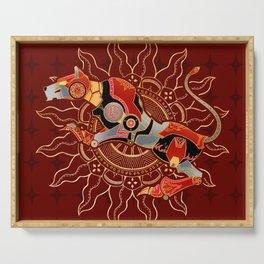 Red Lion Batik Serving Tray