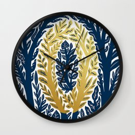 Botanical Metallic Monogram - Letter O Wall Clock