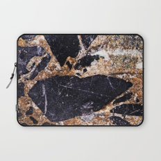 Black and Gold Marble Laptop Sleeve