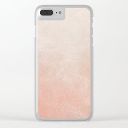 Peachy Ombre Clear iPhone Case