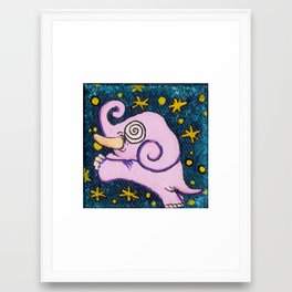 Pink Elephant Framed Art Print