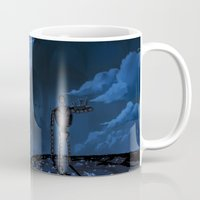 castle in the sky Mugs featuring Castle in the Sky by Chibionpu