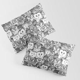 just owls black white Pillow Sham
