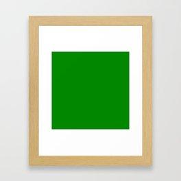 Solid Green Framed Art Print