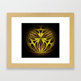 Yellow Gold Gateway Orb Framed Art Print