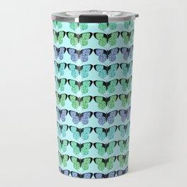 Pretty Green Butterflies Travel Mug