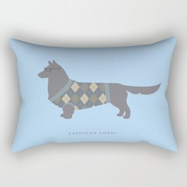 Cardigan Corgi Rectangular Pillow