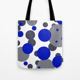 Bubbles blue grey- white design Tote Bag