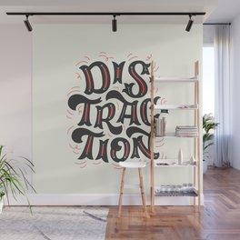 DISTRACTION // Dark Gray Wall Mural
