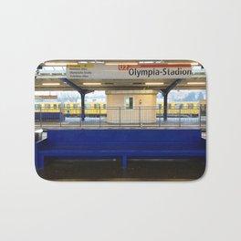Berlin U-Bahn Memories - Olympia Stadion Bath Mat