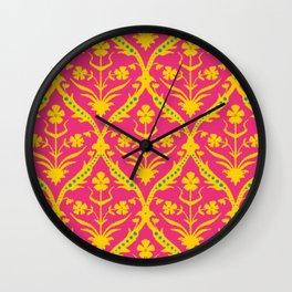 Kala trellis ikat Wall Clock