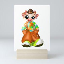 Sad Little Clown Mini Art Print