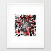 graffiti Framed Art Prints featuring Graffiti  by Jonna Ivin