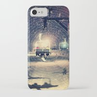 ski iPhone & iPod Cases featuring Ski Lift by EvanBurnham