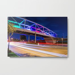 Colors and Light Trails Metal Print