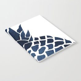 Pineapple, Big Blue, Denim Navy Notebook