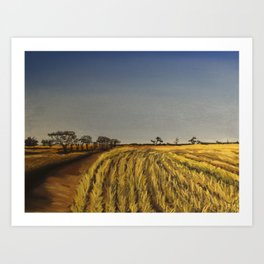 To The Wheatbelt Art Print