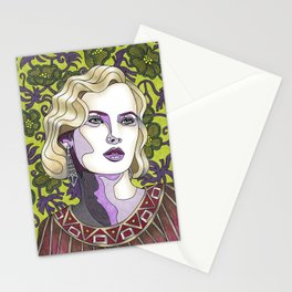 Nouveau Chartreuse Stationery Cards