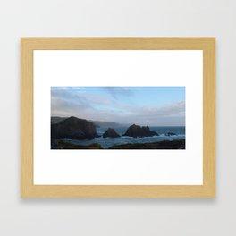 HARTLAND QUAY NORTH DEVON AFTER STORM Framed Art Print