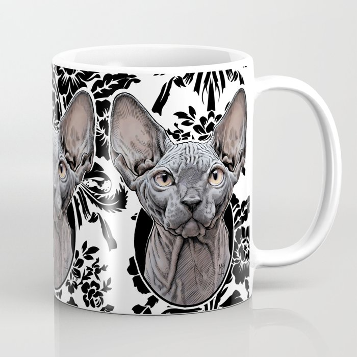 Sphynx Cat Decorative Coffee Mug By Matlocktheartist