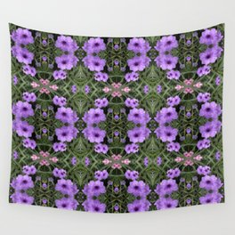 Mexican Petunias Damask Wall Tapestry