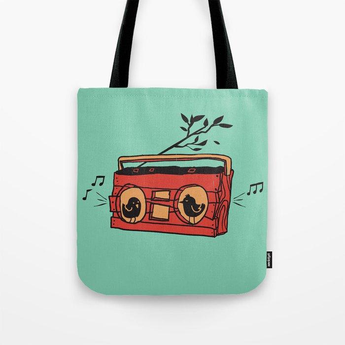 Nature's boombox Tote Bag