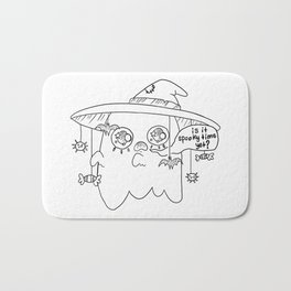 Impatient Ghosty Bath Mat