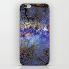 Fantasy stars. Milkyway through the trees. iPhone & iPod Skin
