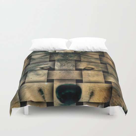 Woven Wolf Duvet Cover