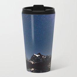 Summer Stars - Galaxy Mountain Reflection - Nature Photography Travel Mug