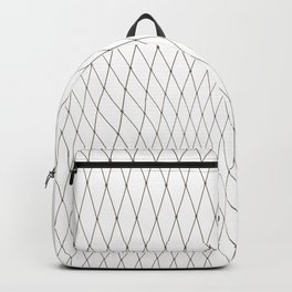 Fish net / black on white distorted geometry Backpack