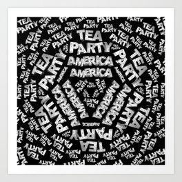 Tea Party Collage Art Print