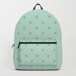 Geometric mint green modern polka dots pattern Backpack