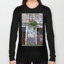 Old Sicilian facade of Taormina Long Sleeve T-shirt