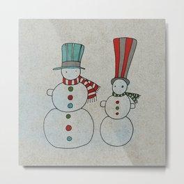 Snowmen Metal Print