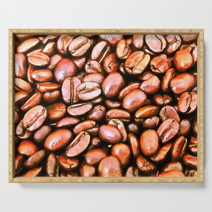 roasted coffee beans texture acrsat Serving Tray