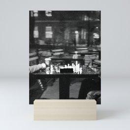 Two People Playing Chess Mini Art Print