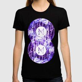 Vinyl abstract T-shirt