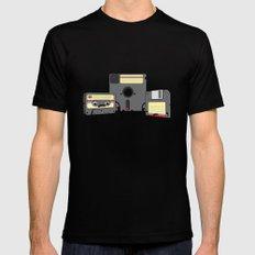 The Obsoletes (Retro Floppy Disk Cassette Tape)  MEDIUM Mens Fitted Tee Black