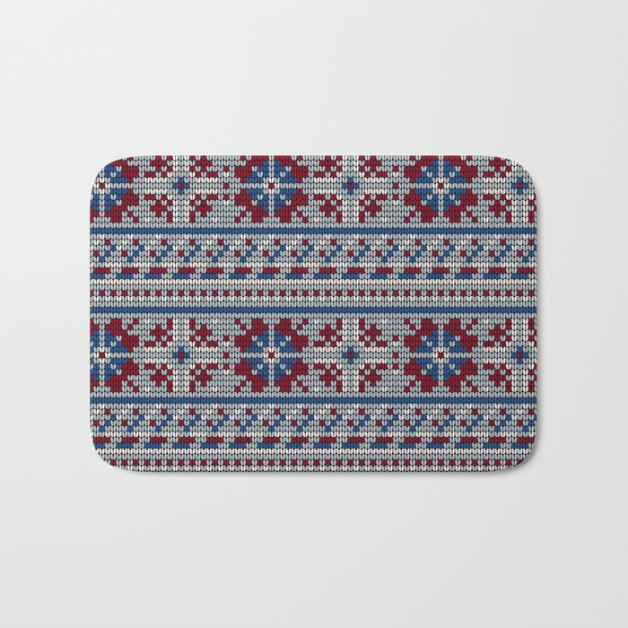 Pattern in Grandma Style #18 Bath Mat