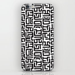 Black And White African Abstract Shapes iPhone Skin