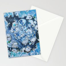 Marbled Blue Universe Stationery Cards